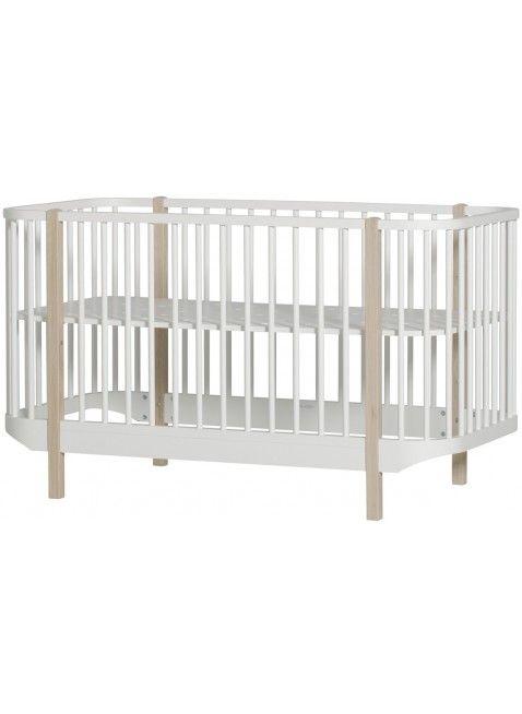 Oliver Furniture Babybett / Umbaubett Wood 70x140 cm Weiß / Eiche ...