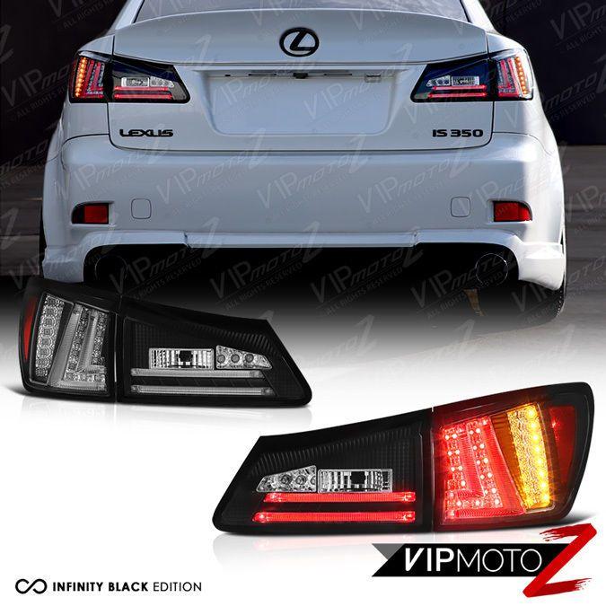 For 2006 2008 Lexus Is250 Is350 Sedan Black Rear Led Tail Lights Brake Lamps 4pc Lexus Is250 Lexus Led Tail Lights