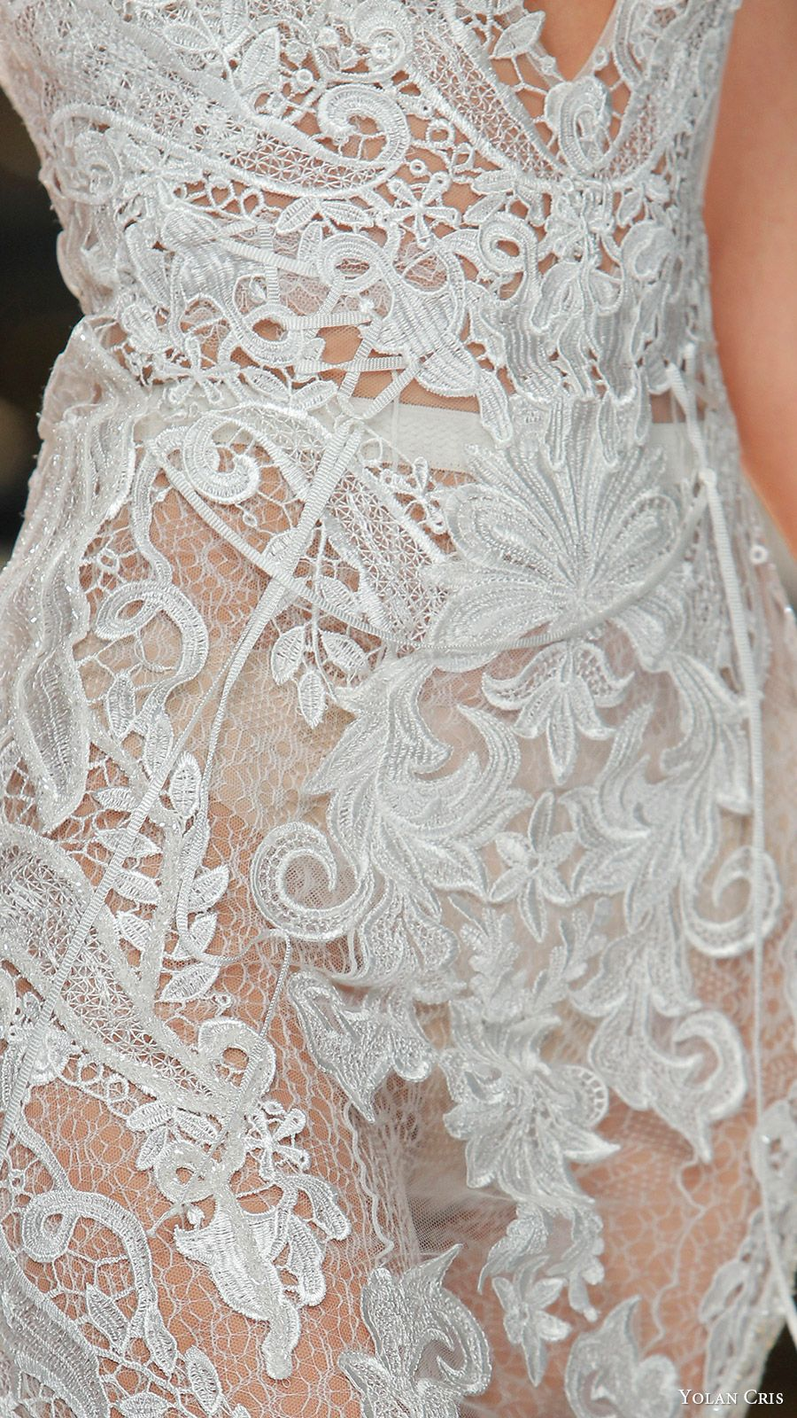 yolan cris bridal 2017 sleeveless vneck lace sheath wedding dress (38) zv 5acdff5a22