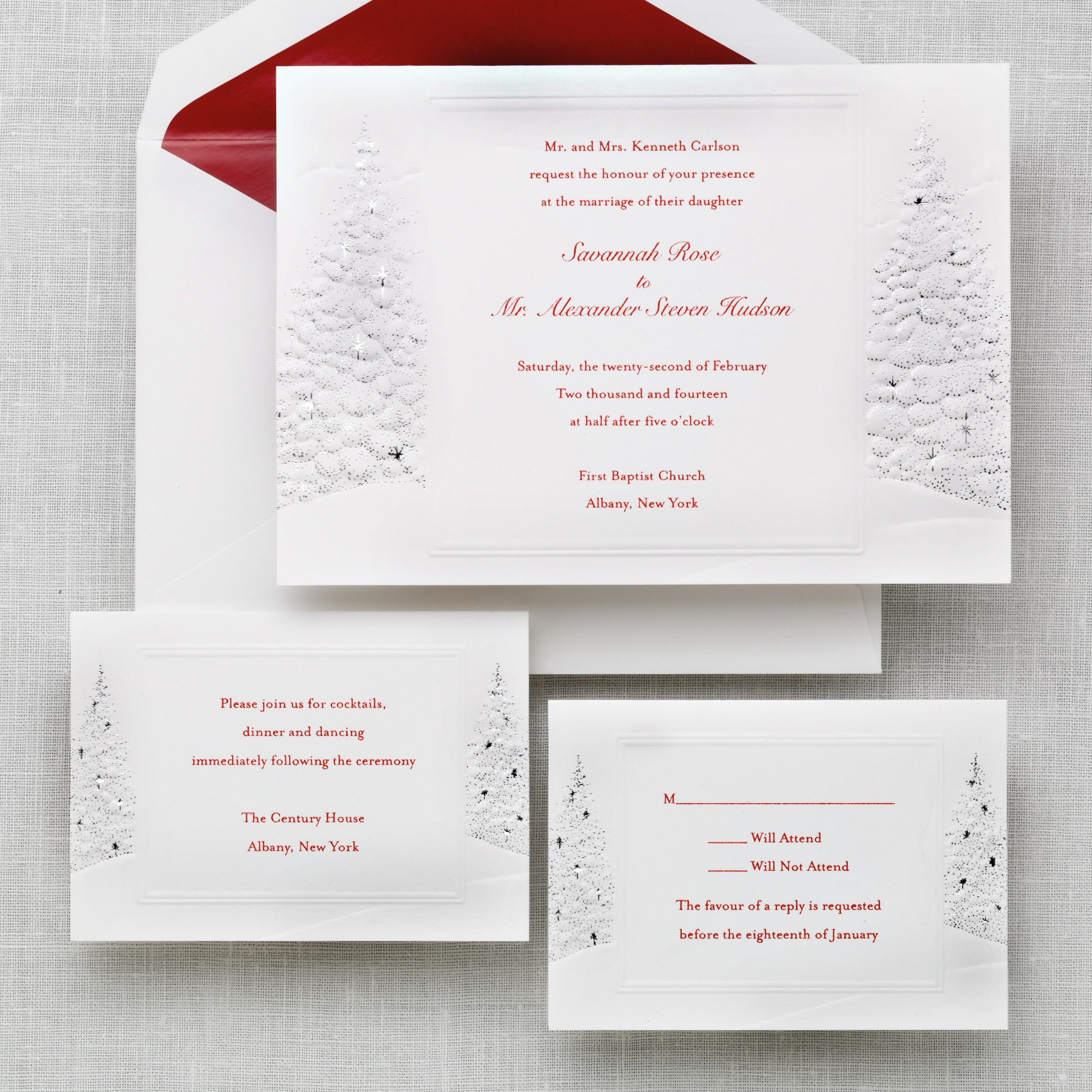 Winter Wedding Invitations Cheap: Winter's Romance Wedding Invitation