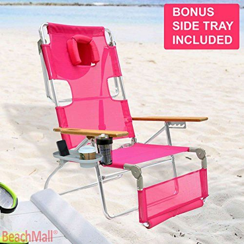 Ostrich 3 In 1 Beach Chair With Side Tray Pink For Sale Https://