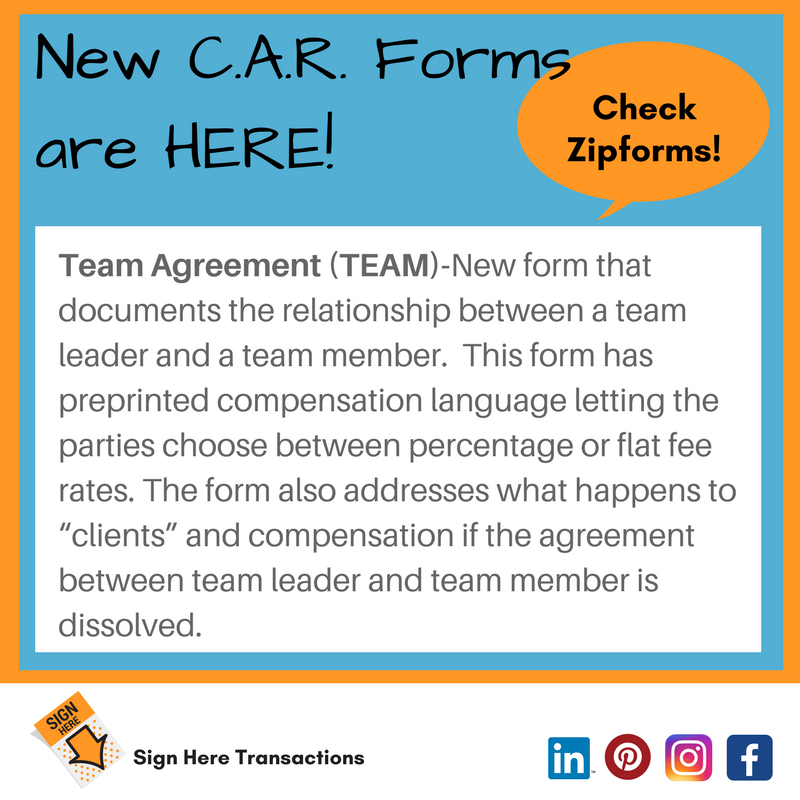 C.A.R. Standard Forms December 2017 Release is HERE! Check