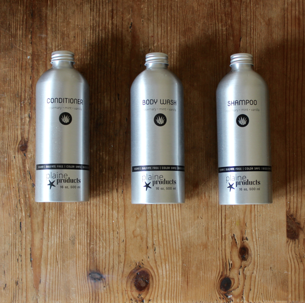 Bulk Shampoo And Conditioner In Refillable Returnable Metal