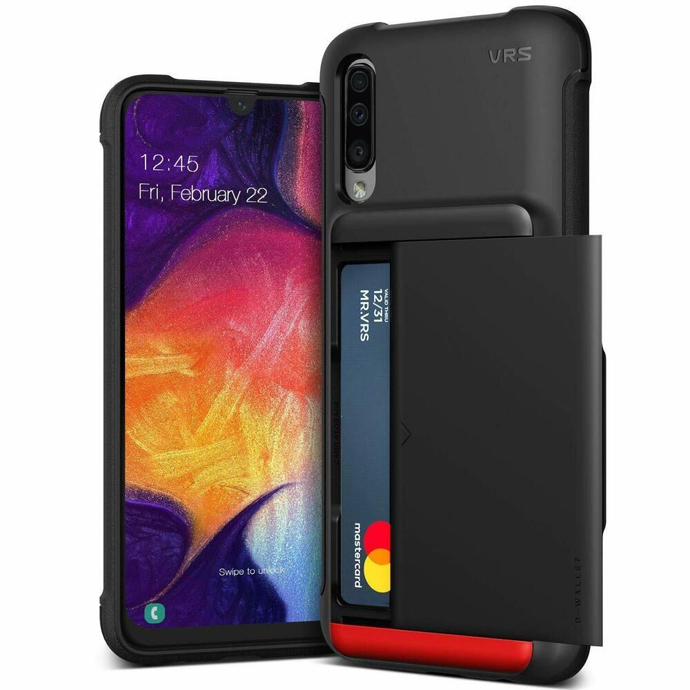 Details about samsung galaxy a50 wallet case slide card
