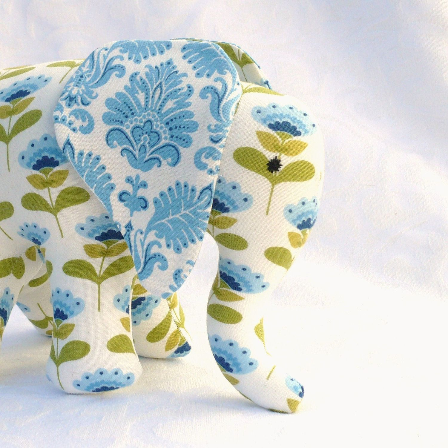 Elephant toy with pacifier tail and sound | Elephant toy ...