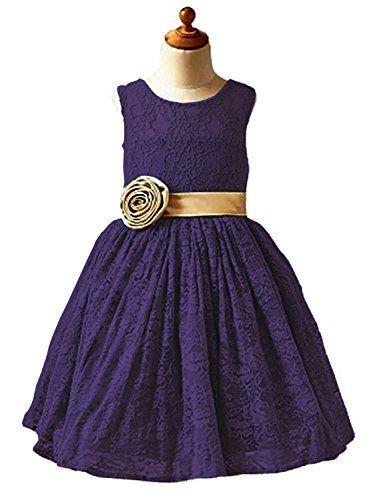 1b4dcb4461 Helen shops Helen Lace Flower Girls Wedding First Communion Dress Gown with  Sash 085
