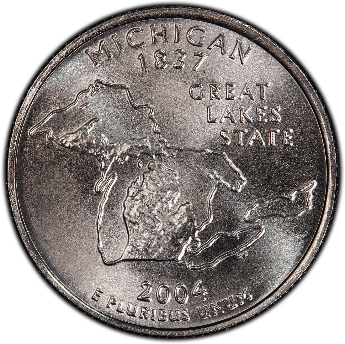 2004D MICHIGAN STATE QUARTER