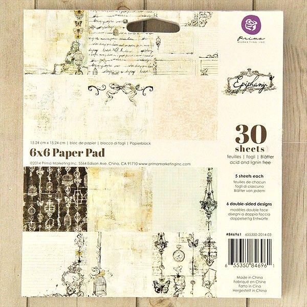 Hobby Lobby Wedding Ideas: Prima Marketing Epiphany Paper Pad 6 X 6