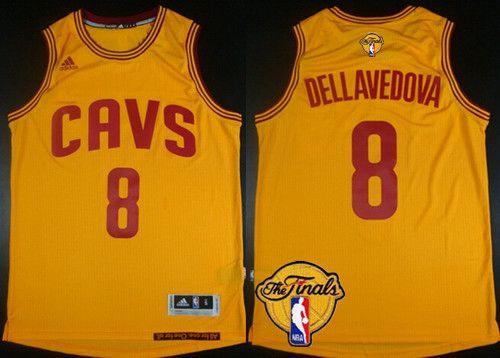 Men s Cleveland Cavaliers  8 Matthew Dellavedova 2016 The NBA Finals Patch  Yellow Jersey 5f4b8af3d