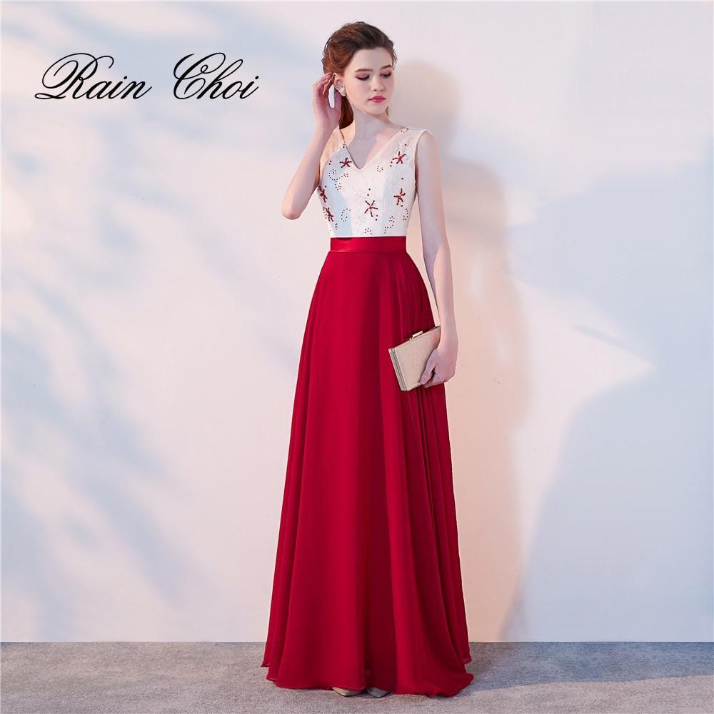 c8c716e8555b Long Evening Dresses 2018 Robe De Soiree Beading Elegant Formal Gowns Floor-length  Party Prom Dress. Yesterday s price  US  89.00 (79.42 EUR).