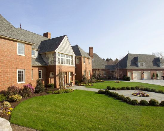 English Home Style In Stunning Appearance Fabulous Country House Exterior Design With Green Lawn