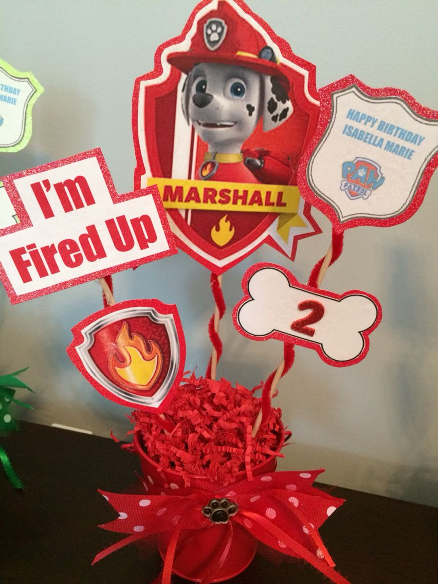 Pleasant Diy Marshall Centerpiece Paw Patrol Party Paw Patrol Download Free Architecture Designs Scobabritishbridgeorg