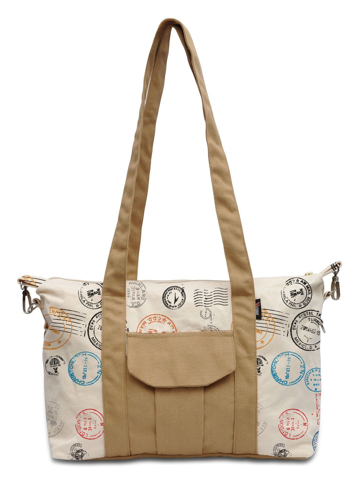 Vietsbay Traveling Stamp-1 Printed Picnic Cotton Canvas Shoulder Bag Was_18