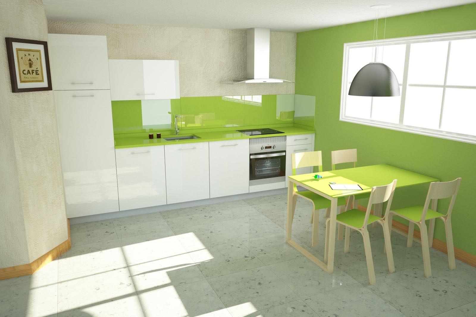 Cocina completa montada en casa con electrodomesticos for Cocina con electrodomesticos