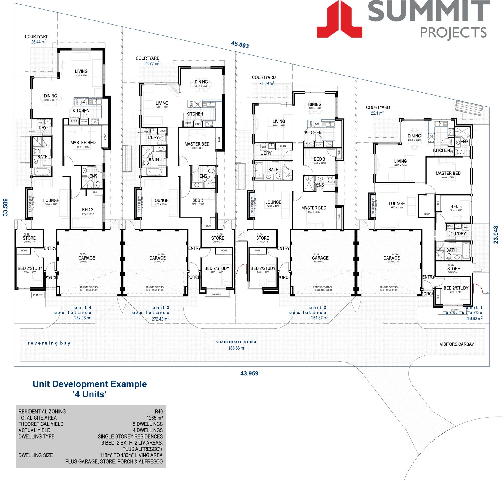Floor plans for single storey multi units perth google for Multi unit floor plans