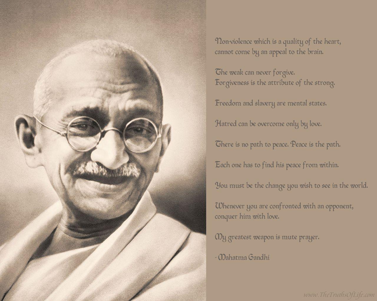 Mahatma Gandhi Quotes On Love Spiritualismnationalismthe Land Of India  Mahatma Gandhi Is