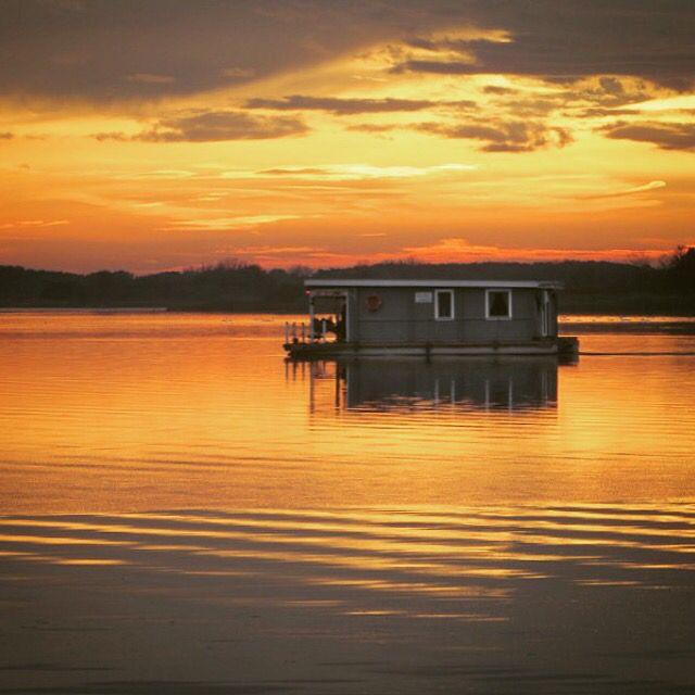 Sonnenuntergang Brandenburg Hausboot Hausbootverleih
