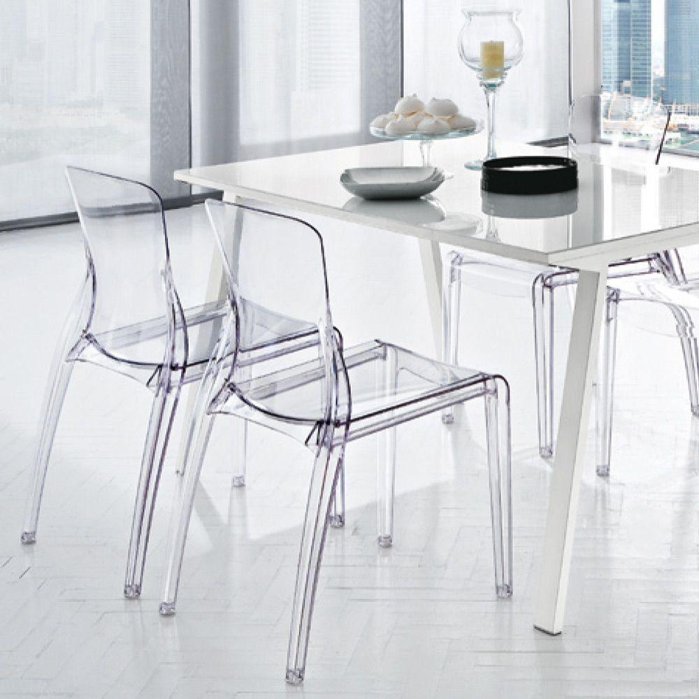 Chaises Diamant En Polycarbonate Transparent Chaise Polycarbonate Chaise Chaise Contemporaine