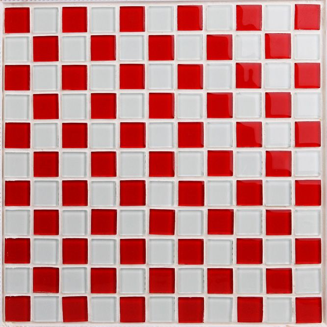 Glass Mosaic Tile Sheets Kitchen Backsplash Cheap 3031 Red and