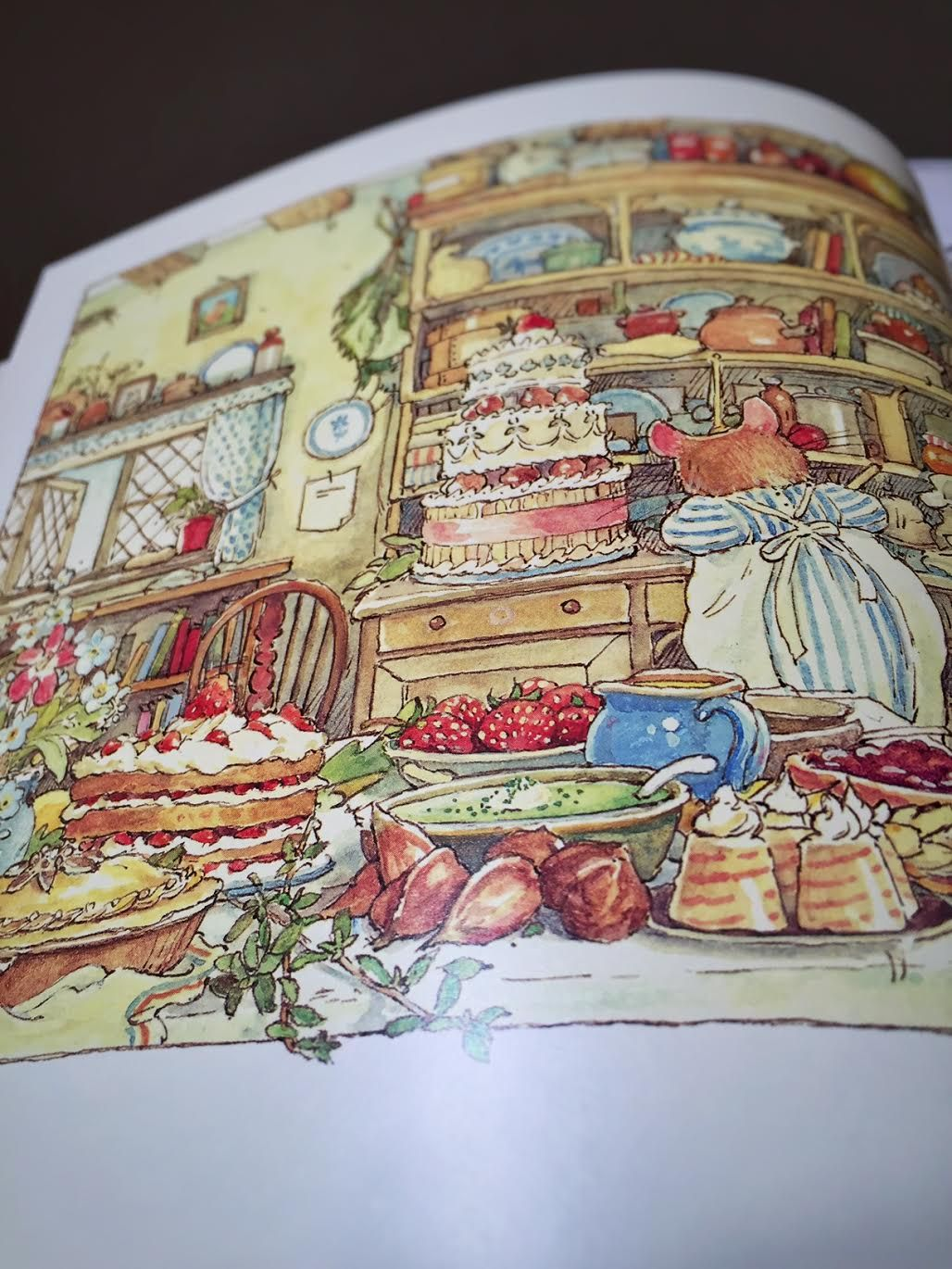 Summer Story with strawberries from The Complete Brambly Hedge book