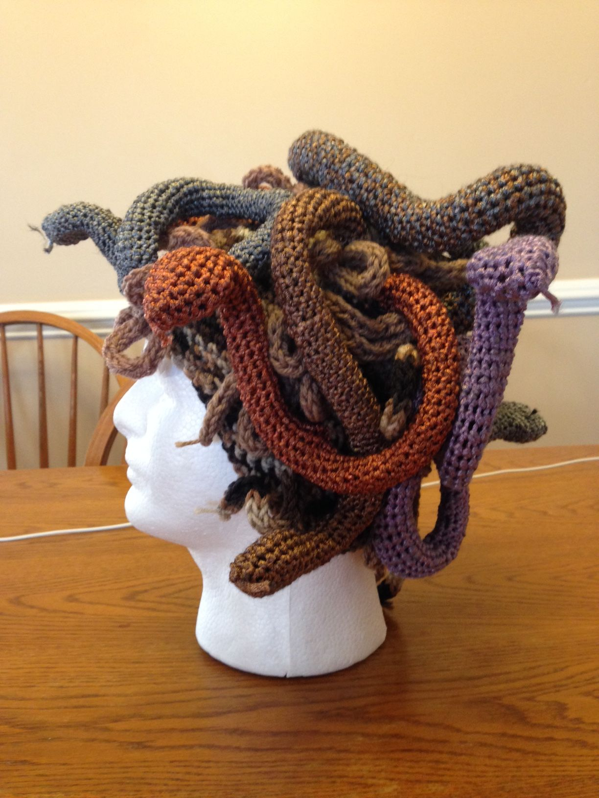 Crochet Medusa Hat | cool projects | Pinterest | Medusa, Crochet and ...