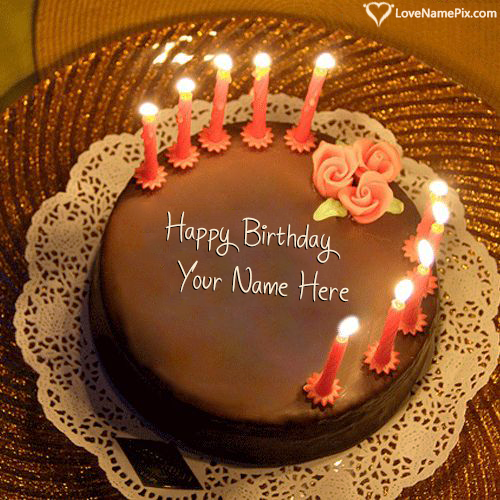 Write Name On Birthday Cake With Candles Free Download Picture Birthday Cake With Photo Birthday Cake For Husband Cake For Husband