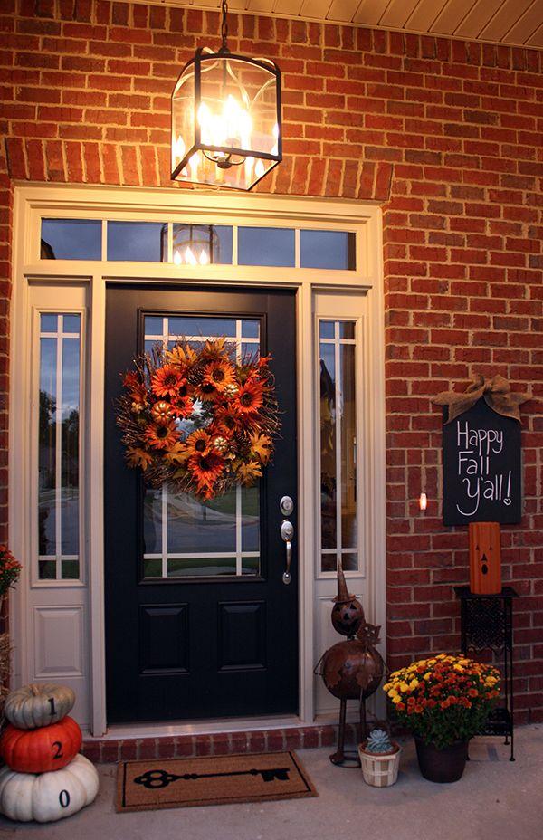Fall Front Porch Decor Autumn Diy Pottery Barn Lantern