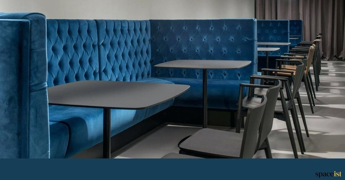 Banquette Booth Blue Velvet Modern Banquette Booth