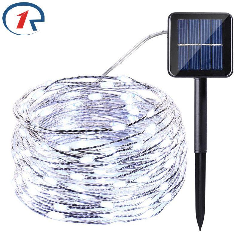 ZjRight 20 m 200 LED Cadena Solar Luces de Hadas de Cables de Cobre ...