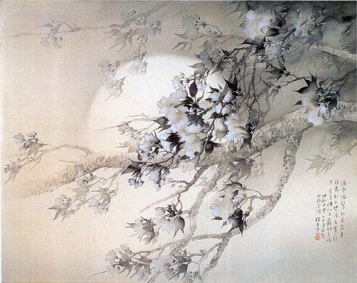 Keigetsu Matsubayashi(松林桂月 Japanese, 1876-1963) Shunsho-Kaei 2 春宵花影図 2 1939