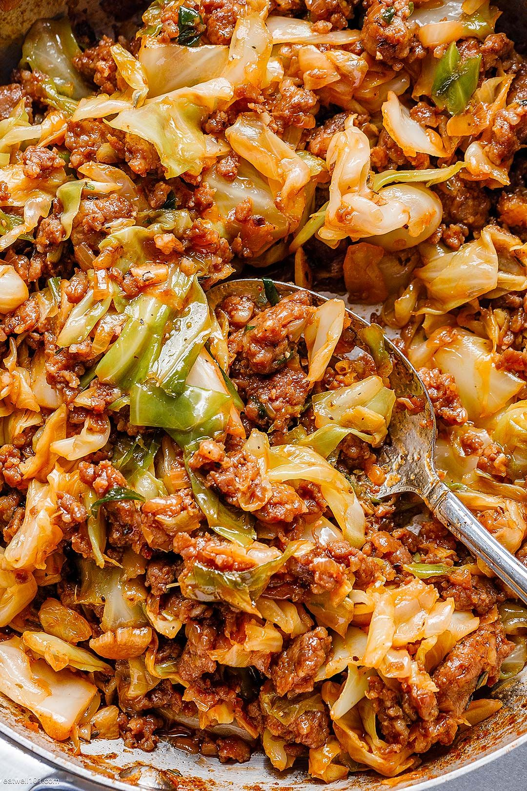 Photo of Fried Cabbage Recipe with Sausage