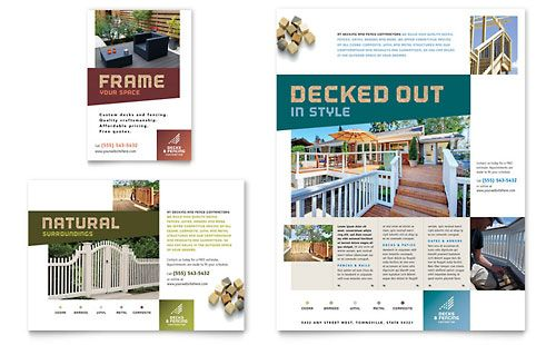Decks \ Fencing - Flyer \ Ad Template Design Layouts Pinterest - microsoft templates for flyers