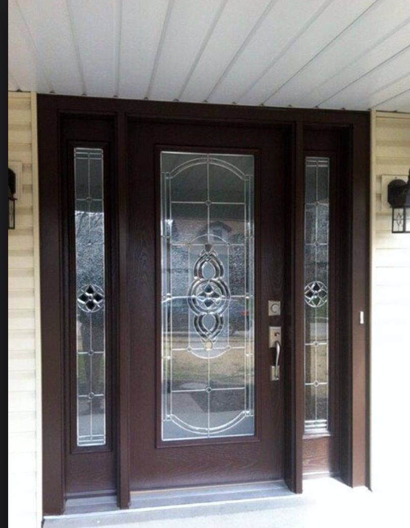 Pin By Summer Char On Dream Home Glass Front Entry Doors Brown