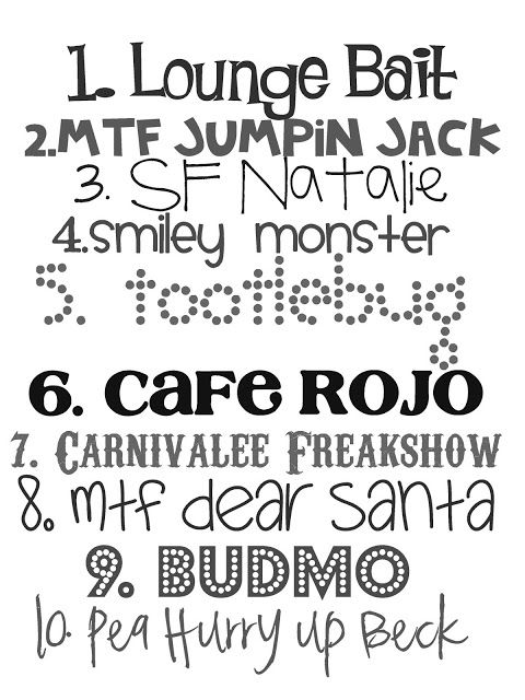 Lovely Little Snippets: Favorite Fonts... take 2.