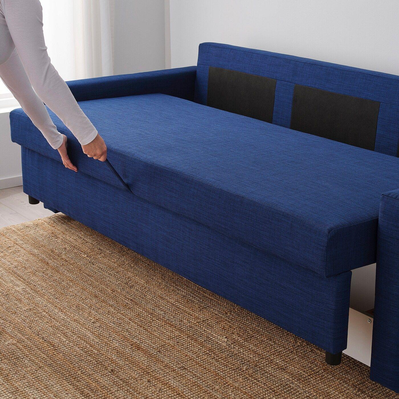 FRIHETEN 3er-Bettsofa Skiftebo blau | Sofa, Bettsofa und Ikea