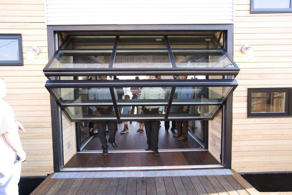 Breezeway In Home Contemporary Garage Doors Chris Campbell Glass Garage Door Garage Doors Contemporary Garage Doors