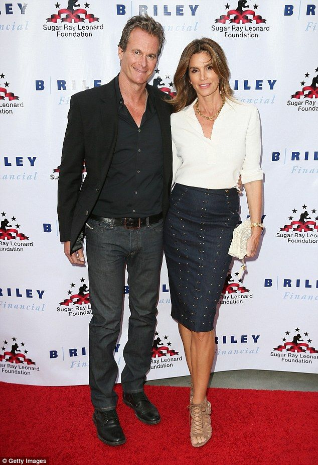 Good cause  Cindy Crawford and Rande Gerber headlined a fundraising boxing  event in Hollywood on db97753d993