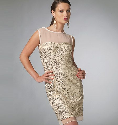 Illusion Neckline Dress Pattern Patterned Bridesmaid Dresses Evening Dress Patterns Petite Dresses