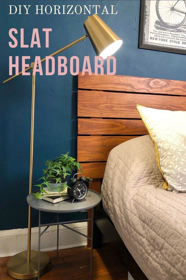 DIY Wood Slat Headboard — Crafty Lumberjacks | Diy wood ...