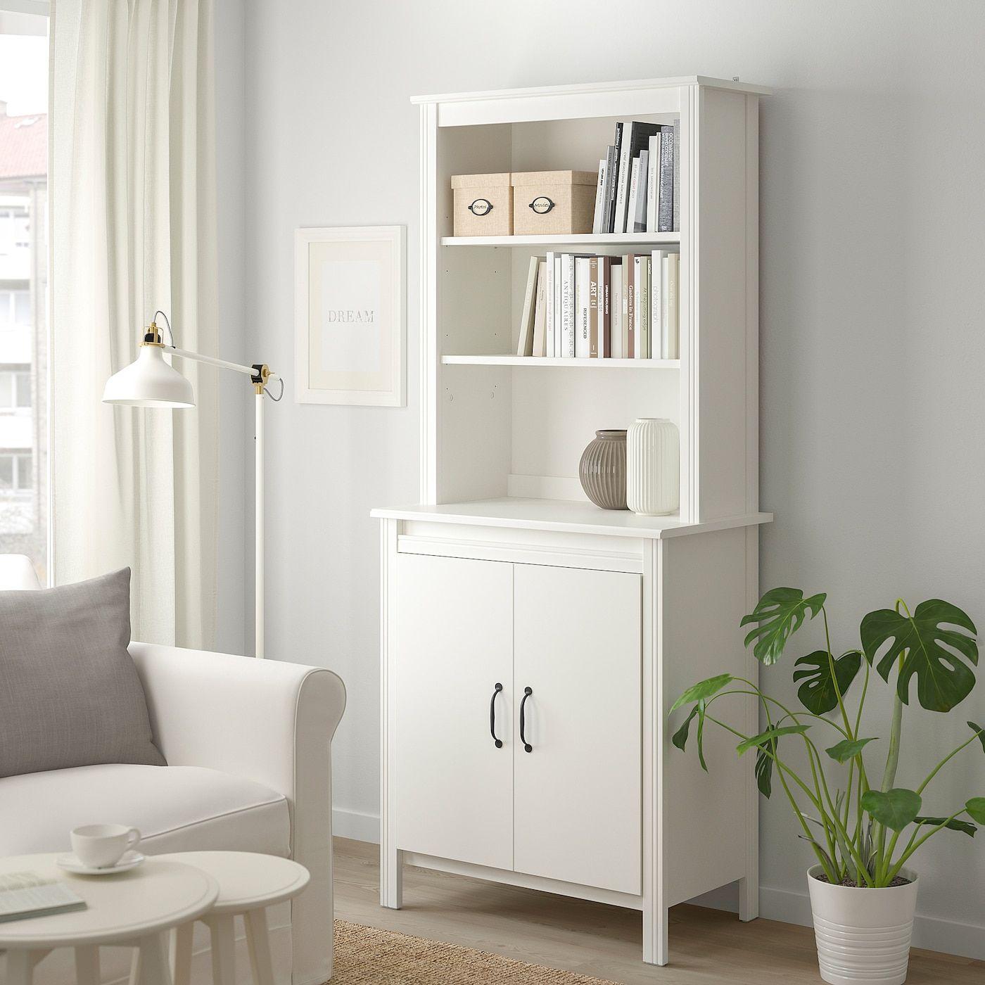 IKEA BRUSALI Hochschrank mit Tür – weiß
