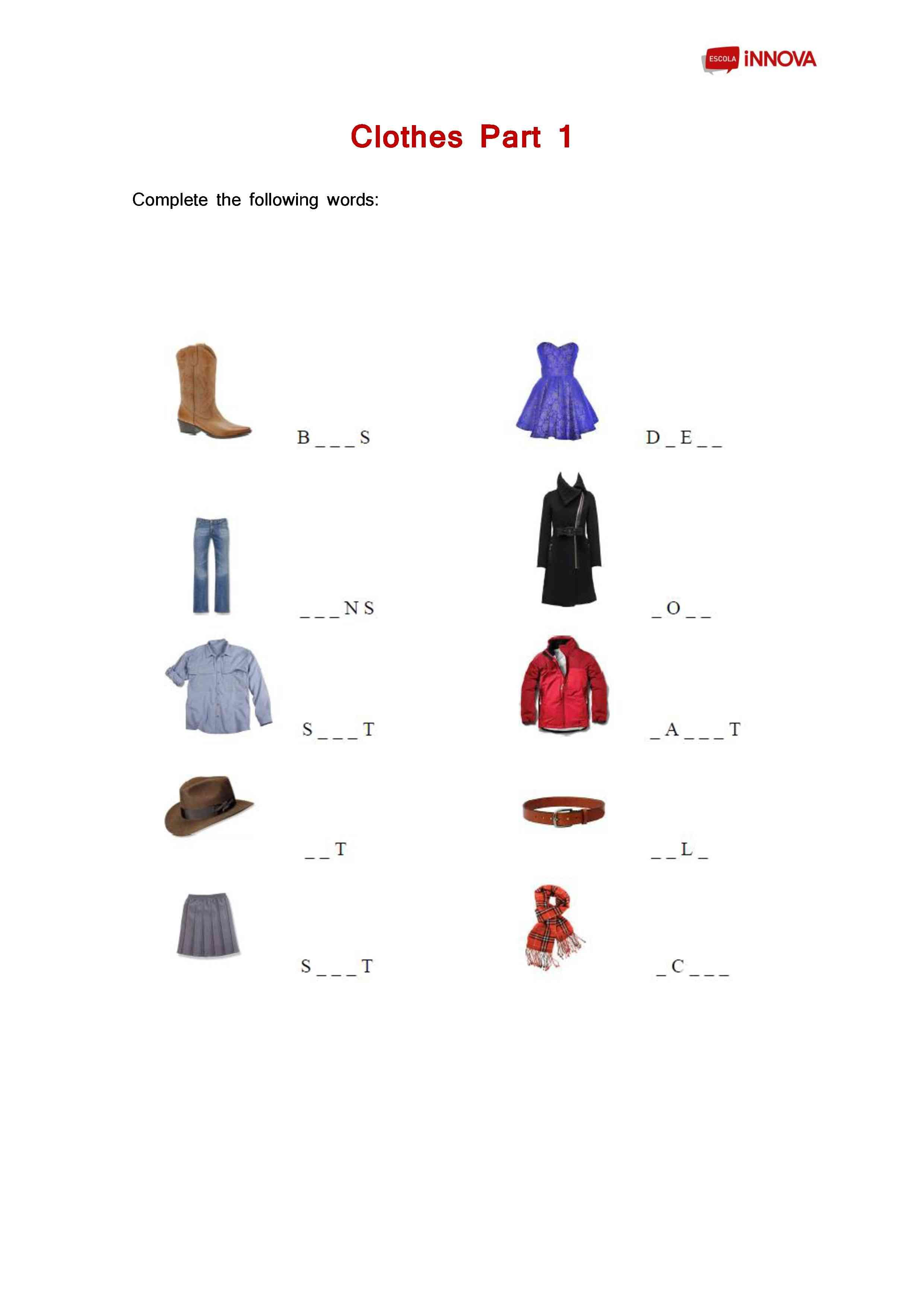 Free 3 Digit Subtraction With Regrouping Worksheets Excel Clothes Worksheet  Primary  La Canaleta  Pinterest  Worksheets Lon Po Po Worksheets Excel with Grammar Activity Worksheets Word Clothes Worksheet  Primary Check Worksheet
