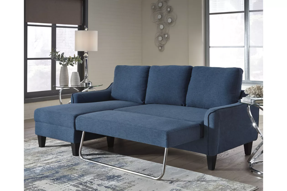Jarreau Sofa Chaise Sleeper Ashley Furniture Homestore In 2020 Sofa Bed Blue Chaise Sofa Blue Sofa