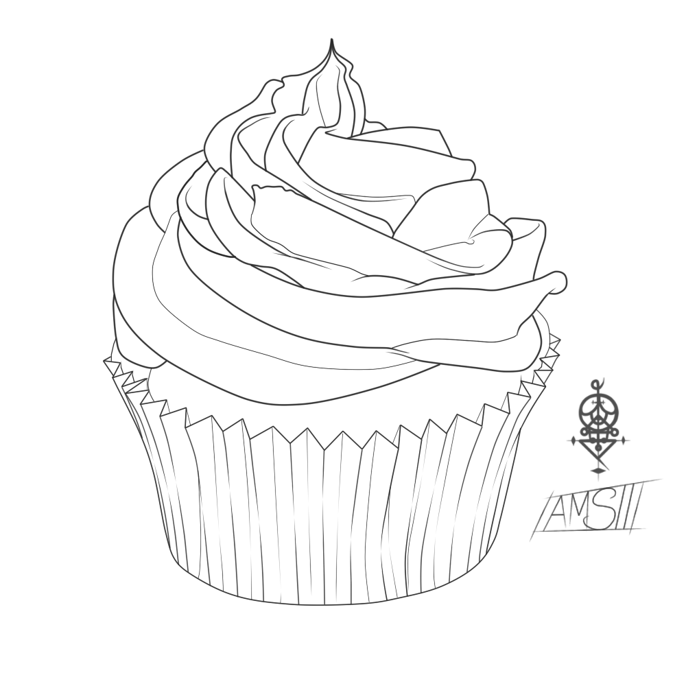 Free Printable Cupcake Coloring Pages For Kids   Techniques de ...