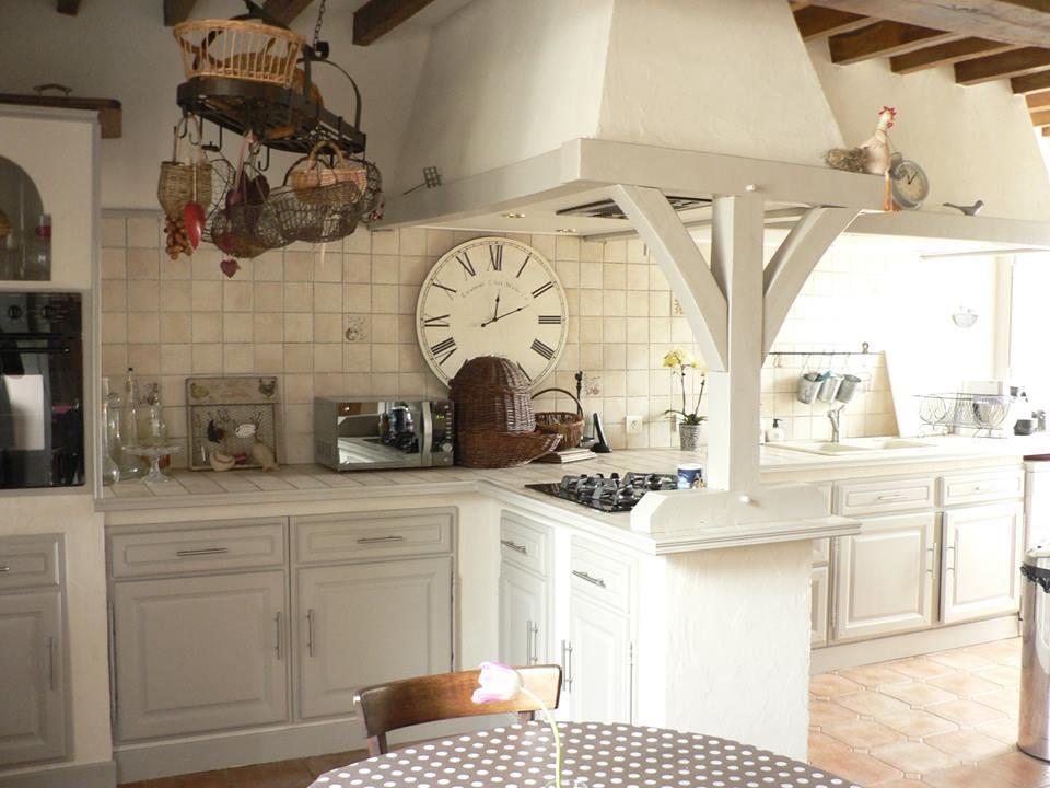 Cuisine En Chêne Repeinte Avec Eléonore Déco Cuisine Pinterest - Eleonore deco cuisine pour idees de deco de cuisine