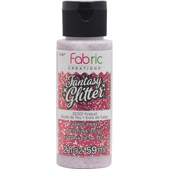 Plaid Fabric Creations Fantasy Glitter Fabric Paint Glitter