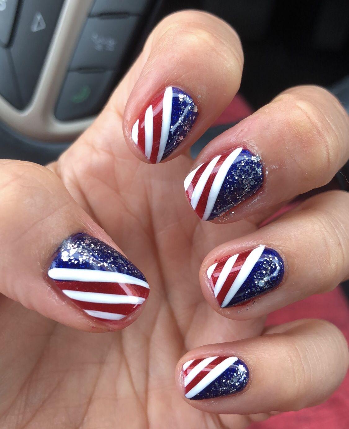 Pin by Samantha Murphy on Nails | Nail art diy, Usa nails ...
