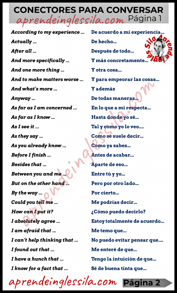 52 Conectores En Inglés Con Pdf Para Conversar Words Word Search Puzzle Person