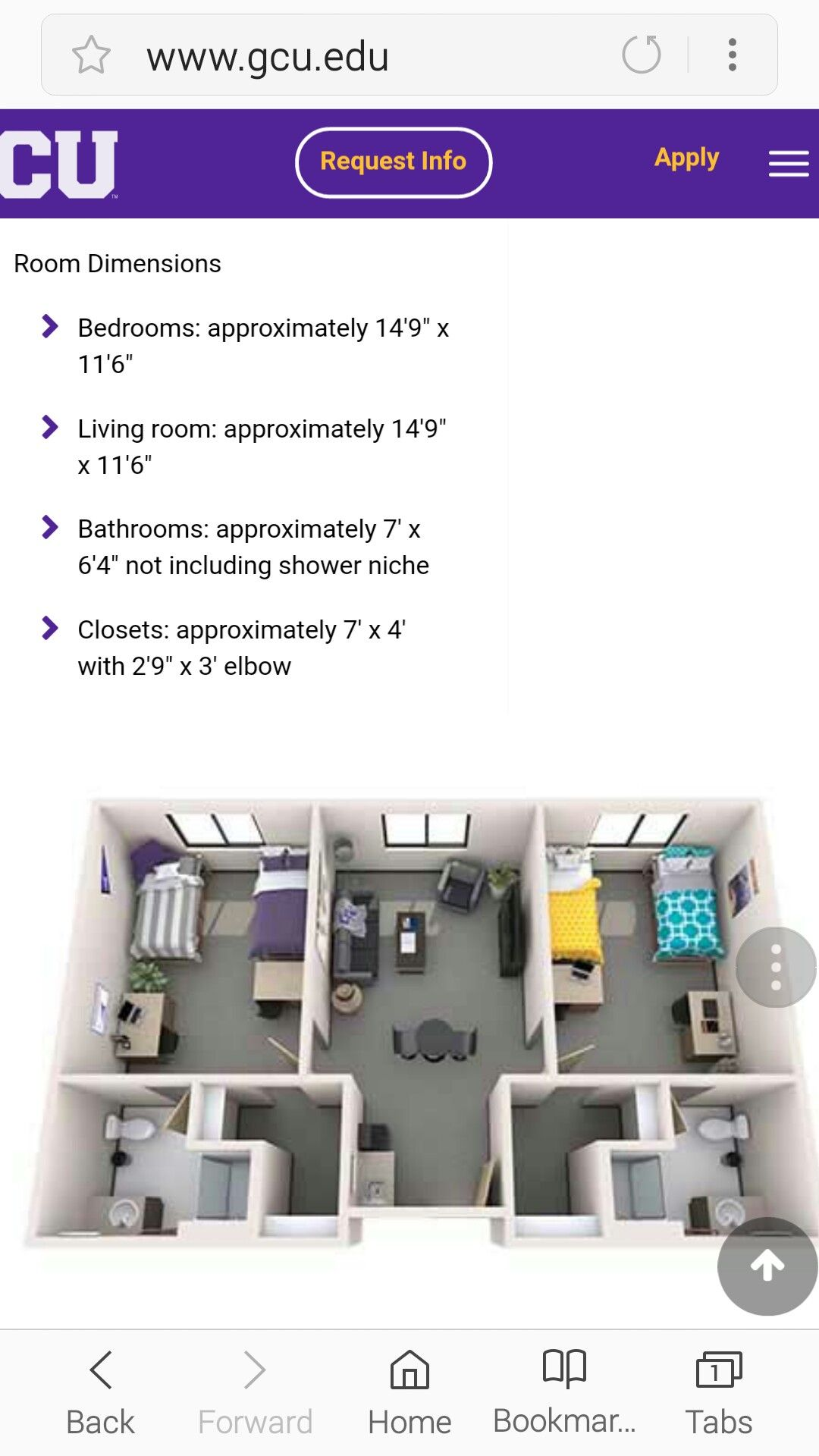 Dorm Room Layouts: GCU Resident Life Ironwood