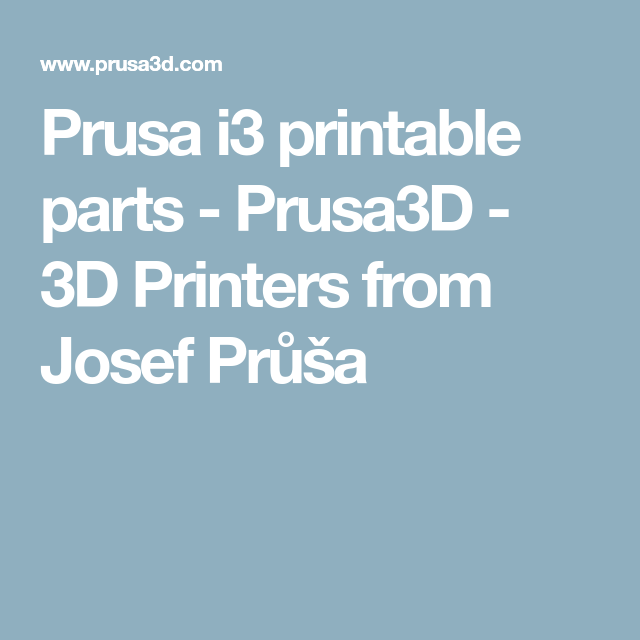 photo regarding Prusa Printable Parts named Prusa i3 printable components prusa i3 3D Printer, Printer i