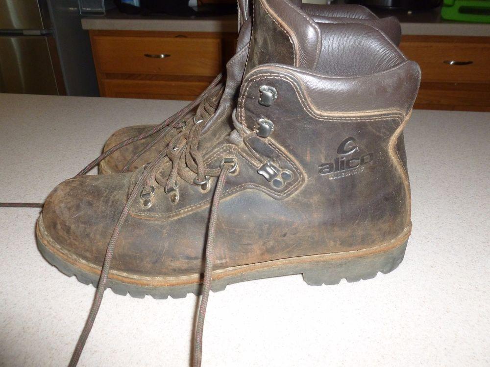 80c81c809df Alico Summit Italian Leather Hiking Boots Vibram Soles Shoes Mens ...